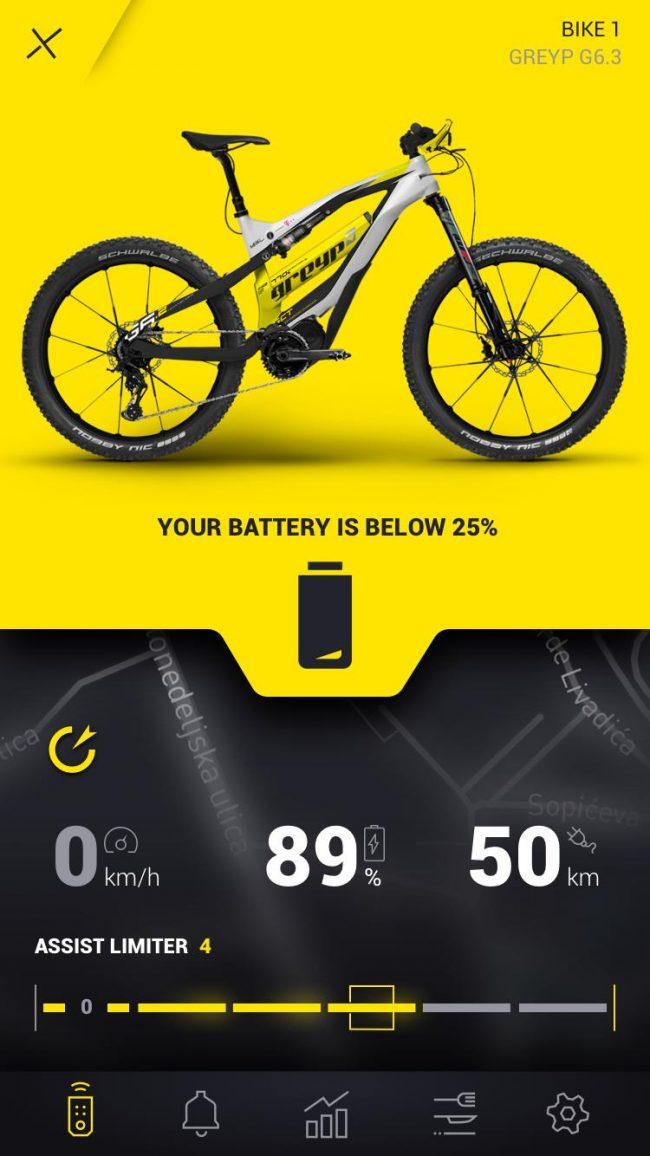 Smartphone conectado bici electrica greyp mexico