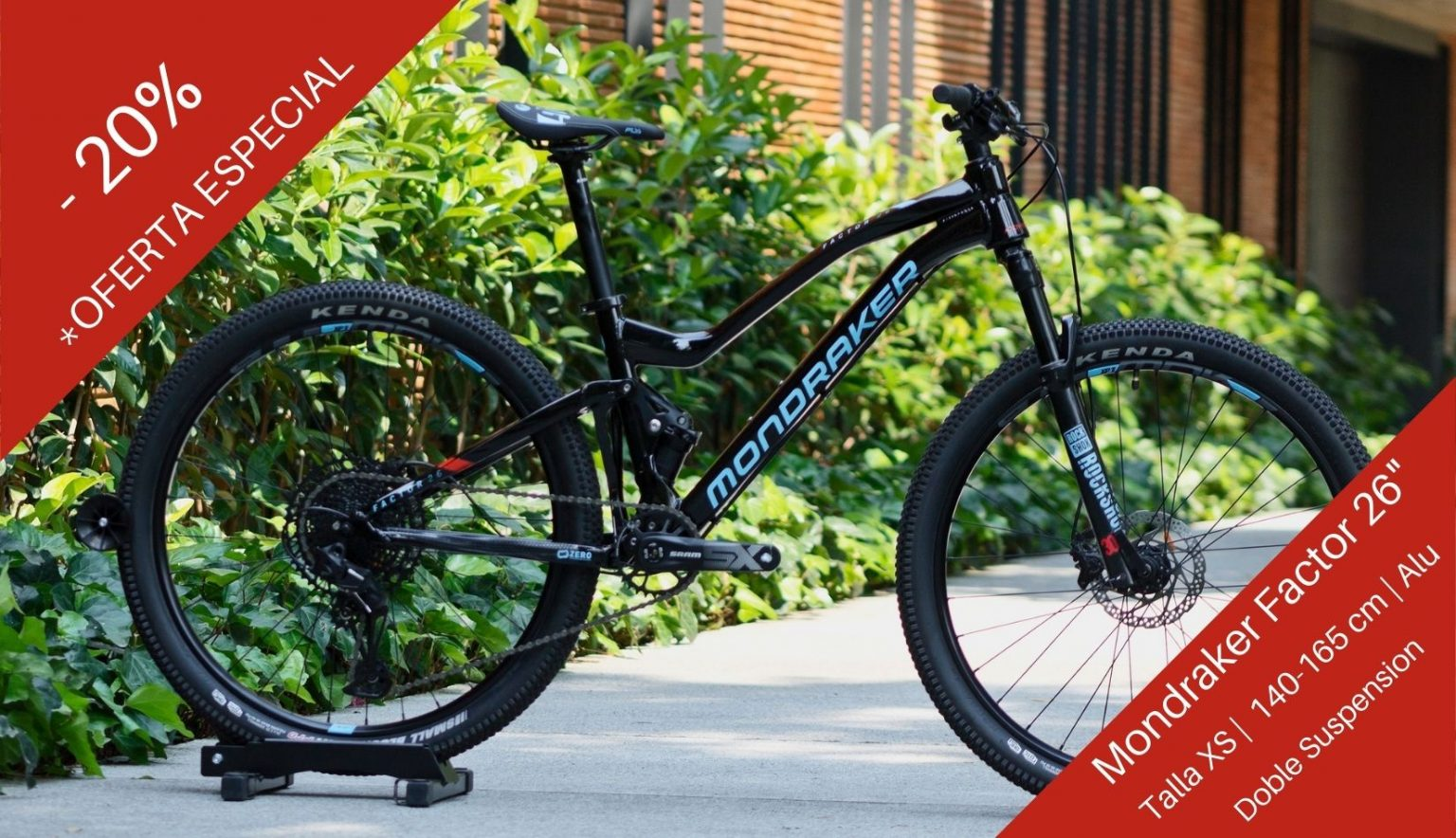 Oferte Descuento Promo Tienda en Linea bicicleta Mondraker Factor 26 pulgadas talla XS chica Alu Mexico Polanco
