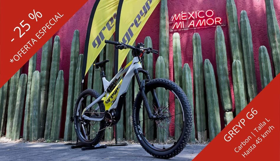 Bicicleta electrica GREYP G6 Carbon Mexico Oneride Polanco CDMX